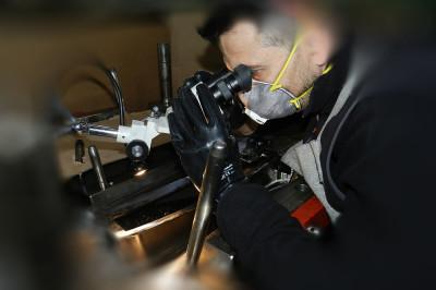 golpe en pulido optico 1